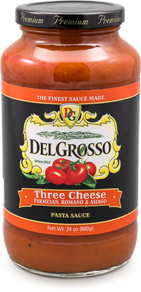 DelGrosso Three Cheese All Natural Pasta Sauce