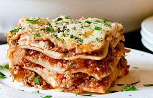 Deep Dish Lasagna Delgrosso Sauces